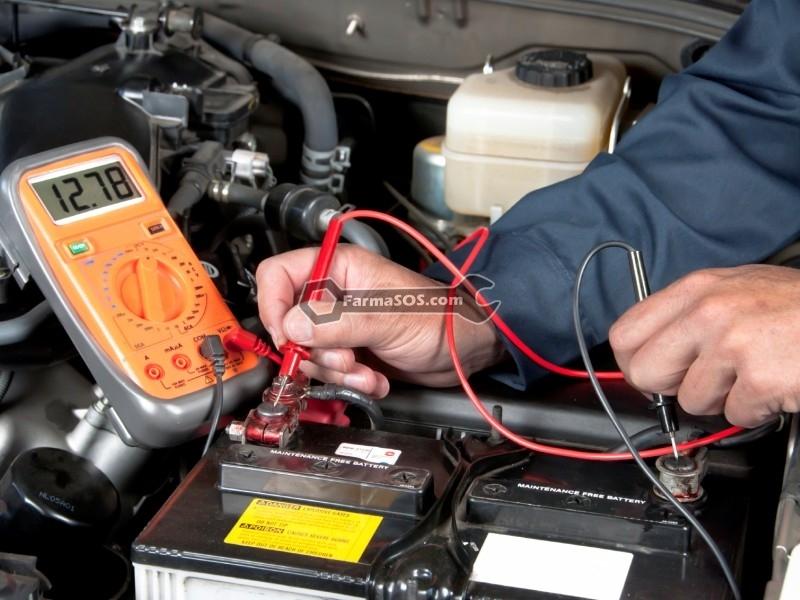 replacing car battery تعویض باتری در محل