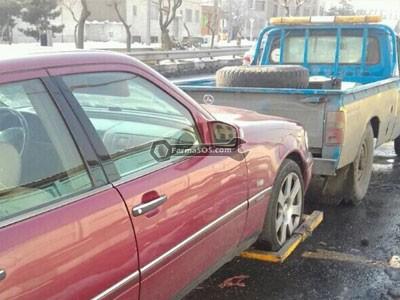 نیسان چرخگیر حمل خودرو با خودروبر